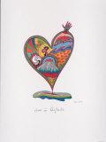 Herz in Aufruhr Print by Renate Schoeller