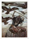 Abraham Guarding His Sacrifice Giclee Print by James Tissot