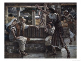 Job Hears Bad Tidings Giclee Print by James Tissot