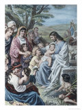 Christ and the Children Giclee Print by Bernhard Plockhorst