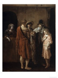 Farewell of Benjamin Giclee Print by Carel Fabritius