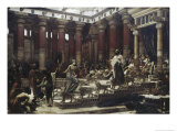 Visit of The Queen of Sheba to King Solomon Premium Giclee Print by Edward John Poynter