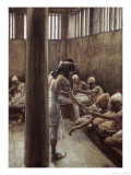Joseph Distributes Bread in Prison Giclee Print by James Tissot