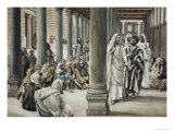 Jesus Walking on Solomon's Porch Giclee Print by James Tissot