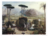 Jardim do den Impresso gicle por Erastus Salisbury Field