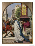 Pilate Delivering Christ to the People Giclee Print by Christen Dalsgaard