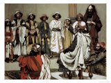 Jesse Presents His Sons to Samuel Giclee Print by James Tissot