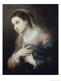 Virgin of the Annunciation Giclée-Druck von Bartolome Esteban Murillo