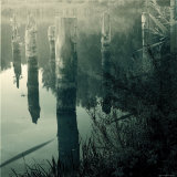 Ruins of Dock Foundation in Lake Photographic Print by Ewa Zauscinska