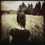 Woman Following Trail in Field Photographic Print by Ewa Zauscinska