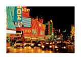 Fremont Street, Las Vegas Print by Mitchell Funk