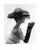 John French - Madame Paulette Net Hat, c.1963 Plakát