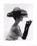 Madame Paulette Net Hat, c.1963 Posters by John French