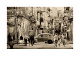 Havana Street, Cuba Prints by Lee Frost