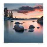 Sand Harbor Sunset Posters by Elizabeth Carmel
