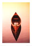 Deserted Canoe Kunstdrucke von Marty Loken