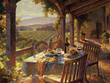 Wine Country Afternoon Kunstdruck von Leon Roulette