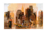 New Yorker and Cabs Posters by Colin Ruffell