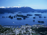 Aerial of Sitka, Alaska Photographic Print by Ernest Manewal