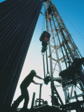 Roughneck Working on Oil Rig Photographic Print by Stephen Collector