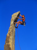 Female Rock Climber Photographic Print by Greg Epperson