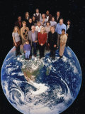 Group of People Standing on Earth Photographic Print by Ron Russell