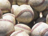 Basket Full of Baseballs Photographic Print by David Harrison