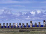 Moai at Ahu Tongariki, Easter Island, Chile Photographic Print by Angelo Cavalli