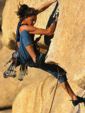 Woman Rock Climbing, CA Photographic Print by Greg Epperson