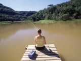 36-year-old Woman Fishing Photographic Print by Silvestre Machado