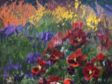 Impressionistic Pansies Photographic Print by David Carriere
