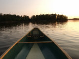 Canoe Trip - Lake of the Woods Stampa fotografica di Keith Levit