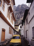 Taxi and Ottoman Houses, Amasya, Turkey Photographic Print by Phyllis Picardi