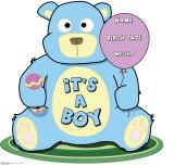 It's A Boy Teddy Bear Cardboard Cutouts