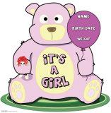 It's A Girl Teddy Bear Cardboard Cutouts