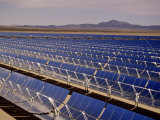 Solar energy collectors, SEGS Plant, Mojave, CA, Photographic Print