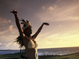 Polynesian Dancer on Easter Island, Chile Photographic Print by Angelo Cavalli