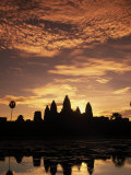 Sunrise at Angkor Wat Temple Photographic Print by Angelo Cavalli