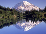 Mt. Rainier from Lake Eunice, WA Photographic Print by John Luke
