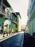 Cobble Street Between Buildings, Puerto Rico Photographic Print by Jennifer Broadus