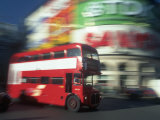Bus in Motion, London, UK Photographic Print by Peter Adams