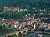 Aerial View of Heidelburg, Germany Fotodruck von Peter Adams