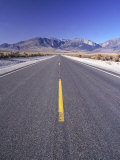 Desert Road, Eastern Sierras, CA Photographic Print by David Porter