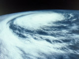 Hurricane Viewed from Outer Space Photographic Print by David Bases