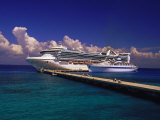 Cruise Ship, Cozumel, Mexico Fotografie-Druck von Walter Bibikow