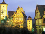 Rothenburg at Night, Germany Photographic Print by Peter Adams