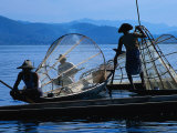 Leg Rowers-Fishermen, Inle Lake, Burma Photographic Print by Sandy Ostroff