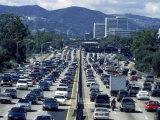 Harvey Schwartz - Traffic, 405 North, Los Angeles, CA Fotografická reprodukce