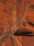 Rock Climbing, Red Rock, NV Photographic Print by Greg Epperson