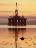 Oil Rig at Dawn, Ross-Shire, Scotland Photographic Print by Iain Sarjeant